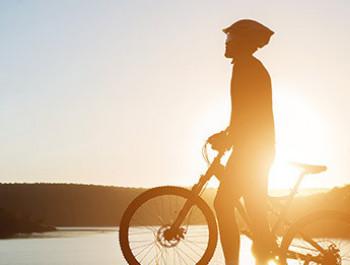 Mountainbike an Natur pur