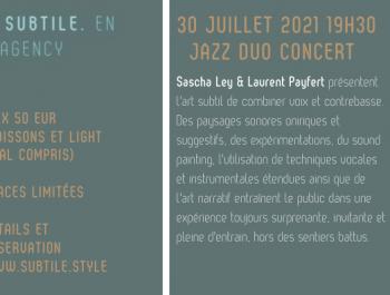 Jazz Duo Concert Sascha Ley & Laurent Payfert